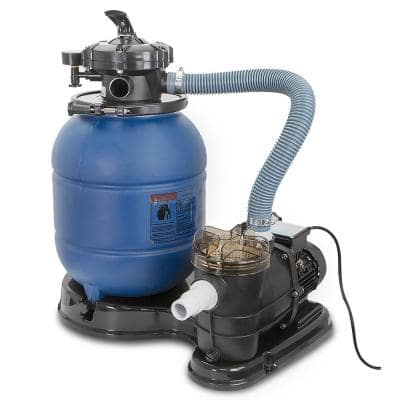 2400 GPH 13 in. Sand Filter Above Ground Swimming Pool Pump Intex Compatible