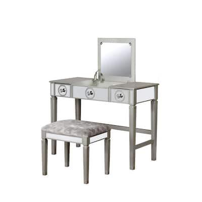 Everley Silver Vanity Set