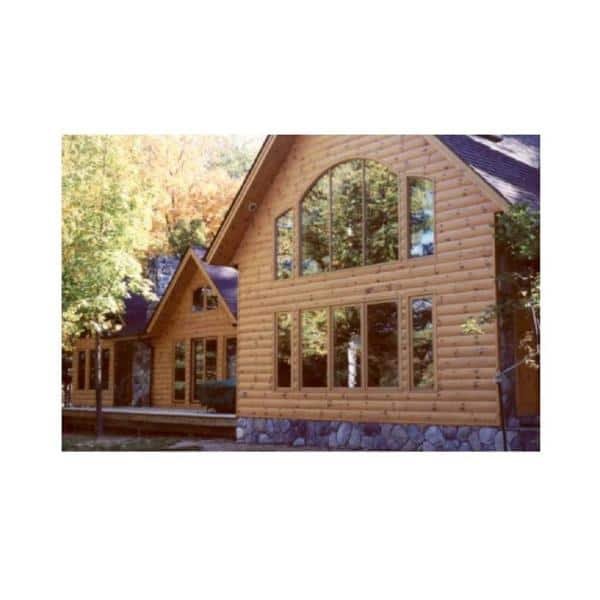 2 In X 8 In X 12 Ft Log Cabin Wood Siding Board 2812spflcs The Home Depot