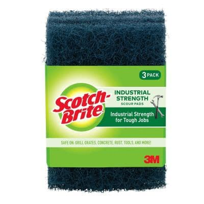 Heavy-Duty Industrial Strength Scour Pad (3-Pack)
