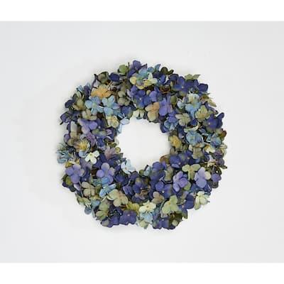 15 in. Hydrangea Wreath on Twig Base