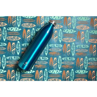 Retro 32 oz. Metallic Teal Double Wall Stainless Steel Bottle