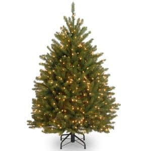 4 ft. Dunhill Fir Artificial Christmas Tree with Clear Lights