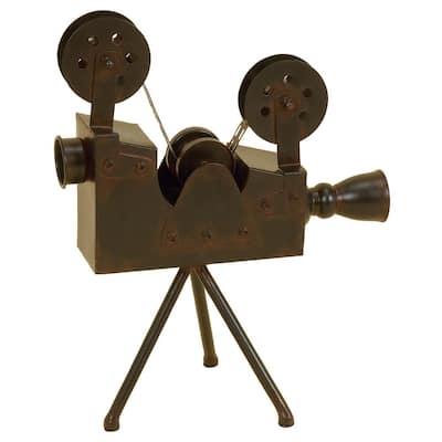 Brown Metal Vintage Camera Sculpture