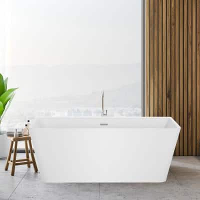 Designer Flat Bottom Bathtubs Freestanding Tubs The Home Depot