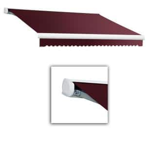 14 ft. Key West Full Cassette Right Motorized Retractable Awning (120 in. Projection) in Burgundy