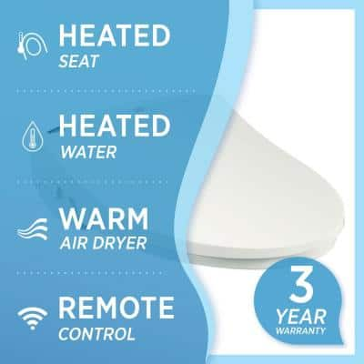 DIB Special Edition Electrical Bidet Seat for Elongated Toilet in White