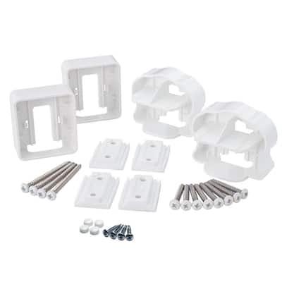 ArmorGuard Deluxe White Plastic Line Rail Hardware Kit