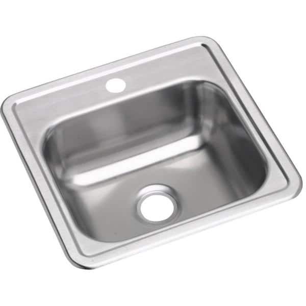 dayton stainless steel 15 in 1 hole drop in bar sink