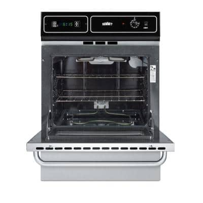 24 in. Single Electric Wall Oven in Stainless Steel