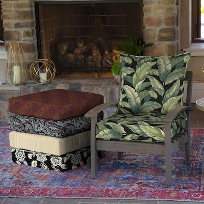 25 in. x 22.5 in. Onyx Cebu Deep Seating Outdoor Lounge Chair Cushion