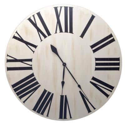 24 in. Oversized Vertical Farmhouse Wall Clock