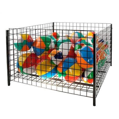 48 in. D x 32 in. H x 48 in. W Black/Semi-Gloss Metal Cube Storage Bin