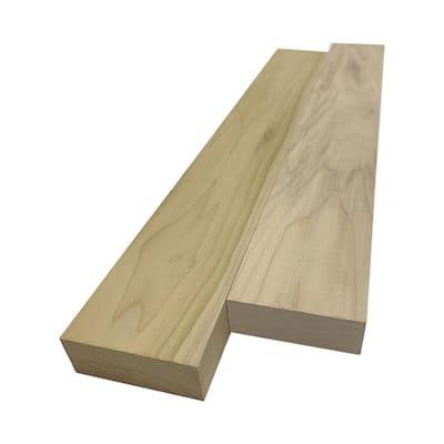 2 in. x 4 in. x 8 ft. Poplar S4S Board
