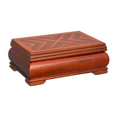 Carmen Walnut Wooden Jewelry Box