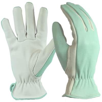 Women's Large Green Full Grain Goatskin Glove