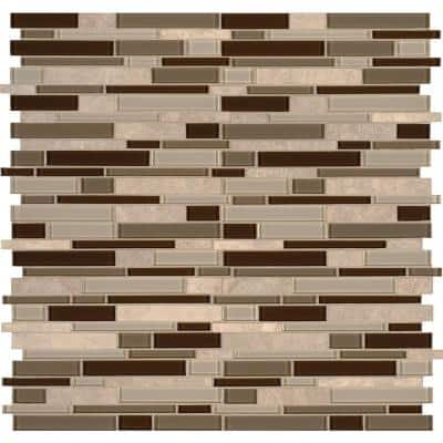 Msi Sienna Interlocking 12 In X 12 In X 8 Mm Stone Glass Mesh Mounted Mosaic Tile 10 Sq Ft Case Sglsil Sien8m 5 The Home Depot