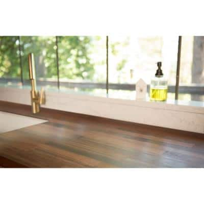 Unfinished Sapele 6 ft. L x 25 in. D x 1.5 in. T Butcher Block Countertop