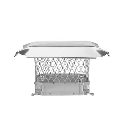 9 in. x 9 in. Bolt-On Single Flue Chimney Cap in Stainless Steel