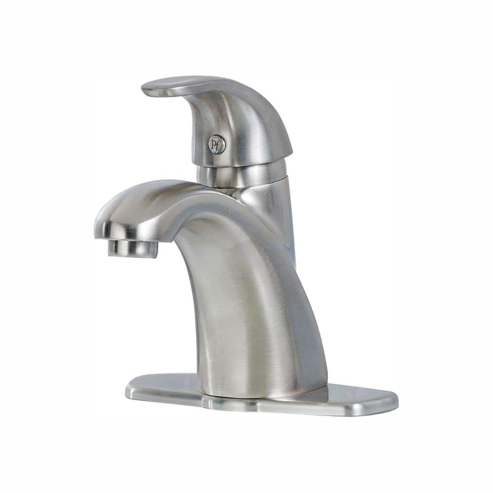 Pfister Parisa 4 In Centerset Single Handle Bathroom Faucet In Brushed Nickel Lf 042 Prkk The Home Depot