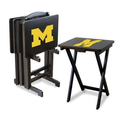 University of Michigan TV Trays with Stand