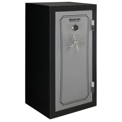 40-Gun Fire/Waterproof Combination Lock Safe, Matte Black/Silver