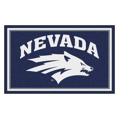 NCAA - University of Nevada Navy Blue 4 ft. x 6 ft. Area Rug