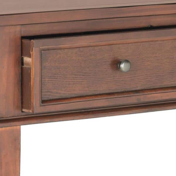 Safavieh - Manelin 60 in. Sepia Standard Rectangle Wood Console Table with Drawers