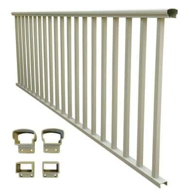 8 ft. x 36 in. Clay Aluminum Baluster Railing