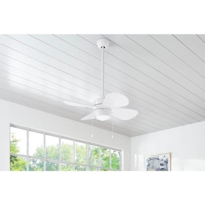 Padgette 36 in. LED White Ceiling Fan
