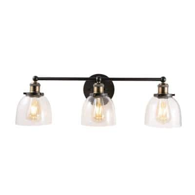 Home Decorators Collection Evelyn 3-Light Artisan Bronze Vanity Light