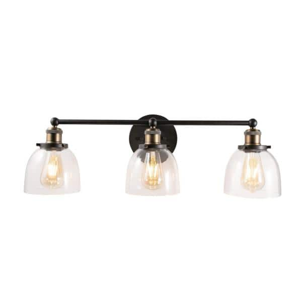 Home Decorators Collection Evelyn 3 Light Artisan Bronze Vanity Light Hb2586 313 The Home Depot