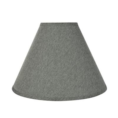 16 in. x 12 in. Grey Hardback Empire Lamp Shade