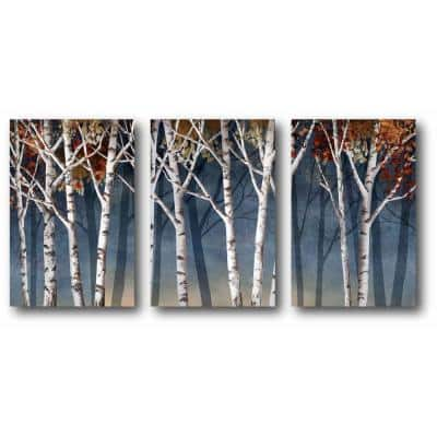 """Birch Trees"" 3-Piece Canvas Printed Wall Art Set"