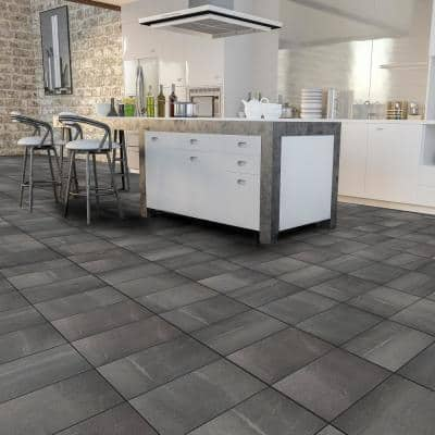 Euro Forum Antracite 12 in. x 24 in. Porcelain Floor and Wall Tile (16.68 sq. ft. / Case)