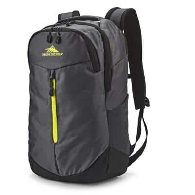 Swerve Pro 5 in. Backpack with Laptop Pocket and Tablet Sleeve, Mercury/Glow