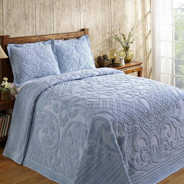 Cotton Tufted Chenille Bedspread Ss, Chenille Bedding Queen