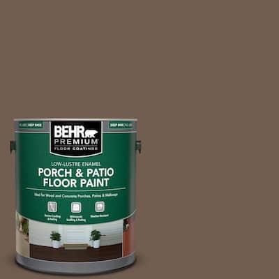 1 gal. #PFC-35 Rich Brown Low-Lustre Enamel Interior/Exterior Porch and Patio Floor Paint