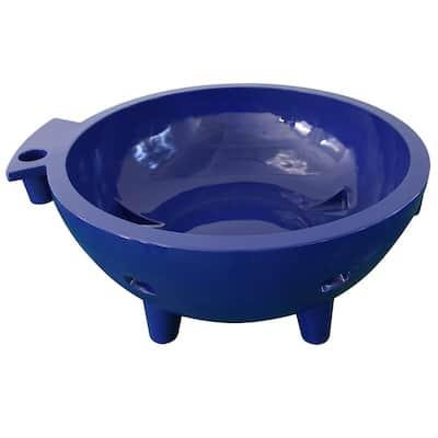 Fire Hot Tub-DB 63 in. Acrylic Flat Bottom Bathtub in Dark Blue