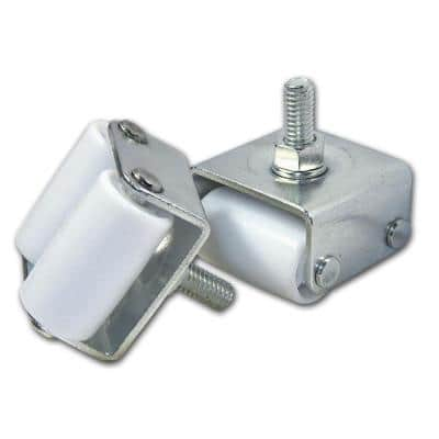 9/10 in. Zinc and White Caster with 254 lbs. Load Rating (4 pack)