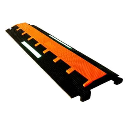 3 ft. 1.25 in. W Raceway Cable Protector Polyurethane with Glow in the Dark Strip Light Duty with 2-Channels