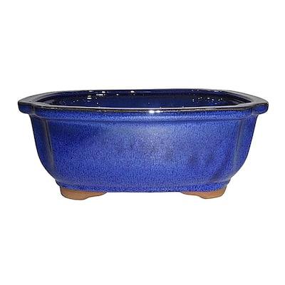 Medium Blue Lotus Pot
