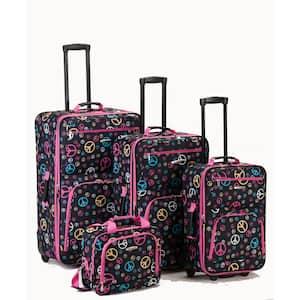 Fashion Expandable Luggage 4-Piece Softside Luggage Set, Peace
