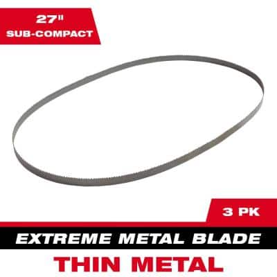 27 in. 12/14 TPI Sub Compact Extreme Thin Metal Cutting Band Saw Blade (3-Pack) For M12 Bandsaw