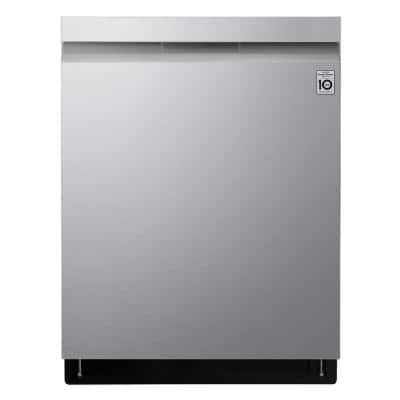 24 in. PrintProof Stainless Steel Top Control Built-In Smart Dishwasher with Stainless Steel Tub and QuadWash, 44 dBA