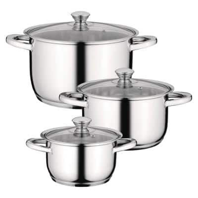 Essentials Gourmet 6-Piece 18/10 Stainless Steel Cookware Set