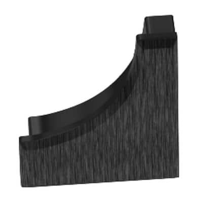 Dilex-AHK Brushed Graphite Anodized Aluminum 9/16 in. x 1/2 in. Metal End Cap