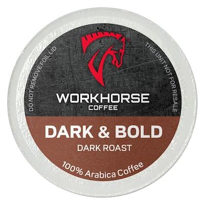 Workhorse Coffee Dark and Bold Coffee Pods (36 Single Serve Cups per Box)