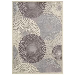 Graphic Illusions Grey 8 ft. x 11 ft. Geometric Modern Area Rug