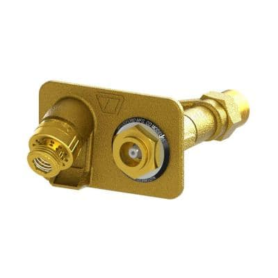 3/4 in. Female SWT x Close Coupled Freezeless Brass Anti-Siphon Wall Hydrant